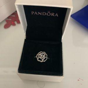 Pandora silver rose ring